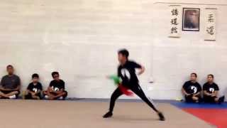 """The next """"Jet Li"""" Sean Le 12 years old doing Kung Fu to broadsword"""