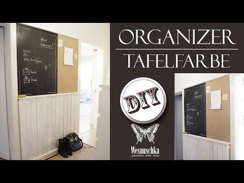 DIY : XXL PINNWAND | TAFELFARBE SELBST MISCHEN | ORGANIZER
