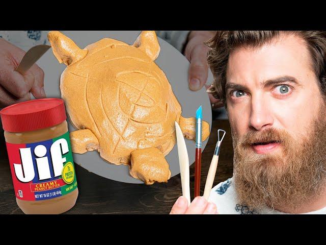 We Carve Peanut Butter Sculptures