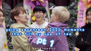 going seventeen 2020 moments that fill my cup of tea