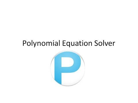 Video of Polynomial Solver Free