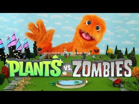 Plants vs. Zombies animación juguetes 😀🎮 juguetes jugar patio trasero piscina fiesta para niños