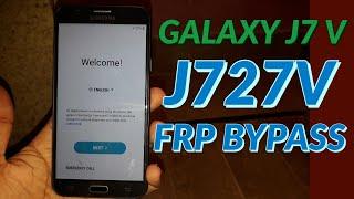 GALAXY J7 V J727V FRP BYPASS GOOGLE ACCOUNT FORGET SOLUTION | SAMSUNG GALAXY ACCOUNT FORGET SOLUTION