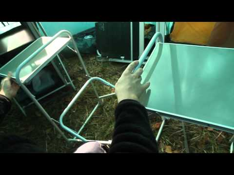 Стол складной кухонный FT-7KR. Видеообзор.
