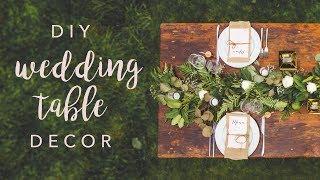 DIY WEDDING TABLE DECOR *SWOONS*