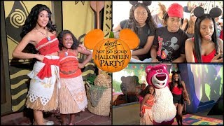 Moana Meets Moana   Disney's Mickey Not So Scary Halloween Party   Family Vlogs   JaVlogs