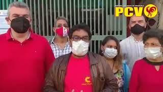 Oscar Figuera, candidato a diputado del PCV, declara tras votar este 6-D
