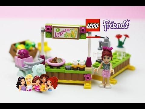 Vidéo LEGO Friends 41027 : Le stand de limonade de Mia