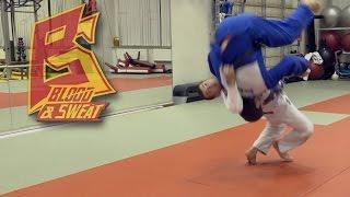 Грузинский бросок (гадаули). Дзюдо. Георгий Размадзе. Judo. Georgian Gadauli throw.