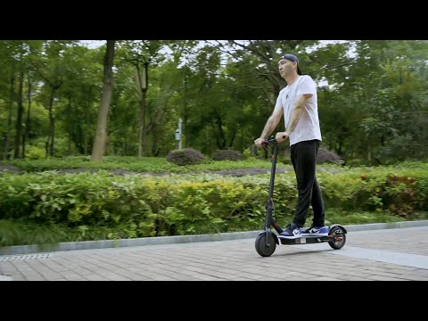 i9 Folding Electric Scooter Speed 18.6mph Mileage 25km Waterproof IP54 8.5 inch Puncture Proof Tire with APP