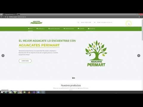 Portafolio de página web Perimart