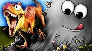 СЛИЗЕНЬ БОБ ПОЖИРАТЕЛЬ ДИНОЗАВРОВ Съедобная планета Игровой мультик для детей Tasty Planet