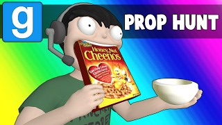 Gmod Prop Hunt Funny Moments - The Breakfast Bunker (Garry's Mod)