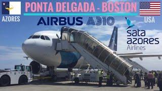 TRIPREPORT | SATA Azores Airlines (ECONOMY) | Airbus A310 | Ponta Delgada - Boston