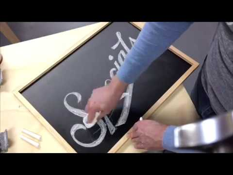 How to write Today's Specials on a chalkboard - chalkboard lettering tutorial - learn chalk art