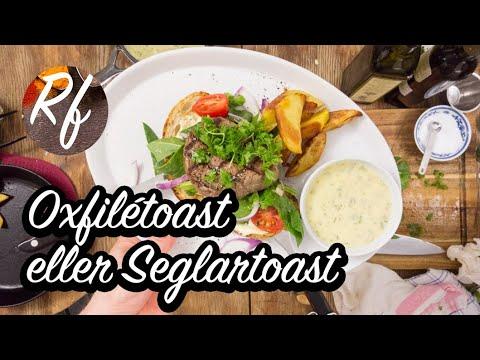 Även kallad Seglartoast. En toast med grillat levainbröd, oxfilé, sallad, Bearnaisesås och klyftpotatis. Du kan grilla i grillpanna eller på utegrill. >