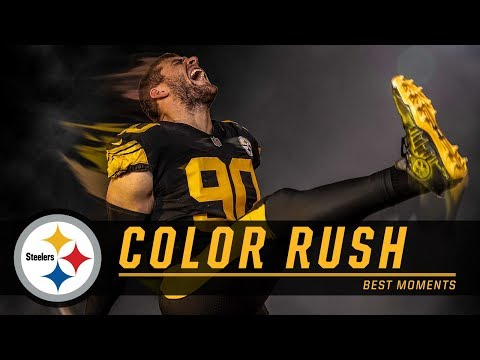 sports shoes 5de89 f0865 tj-watt-steelers-jersey-color-rush-videos
