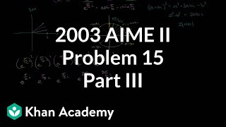 2003 AIME II Problem 15 (part 3)