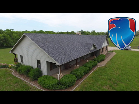 This country home in Auxvasse MO needed a new roof. We tear off all the material down to the plywood and inspect for damaged or rotten plywood. We install ice and water shield in the valleys and use synthetic underlayment instead of cheap felt paper.