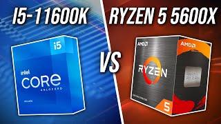 Intel i5-11600K vs AMD Ryzen 5 5600X - Best 6 Core CPU?