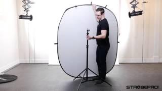 5'x7' White-Black Folding Backdrop