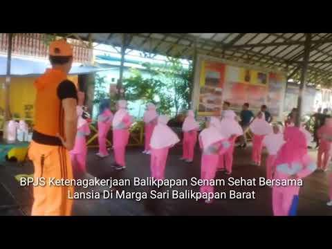 Senam Sehat Lansia Bersama BPJS Ketenagakerjaan Balikpapan