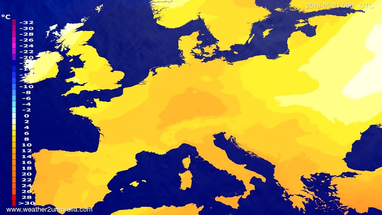 Temperature forecast Europe 2018-05-17