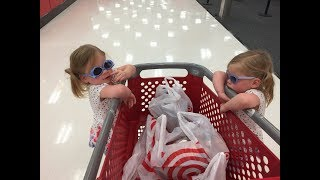 SISTER RUNS OVER SISTER WITH SHOPPING CART