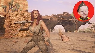 Conan Exiles (2018 PS4 Single Player): Scrubber Builds a House (Episode 2)