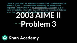 2003 AIME II Problem 3