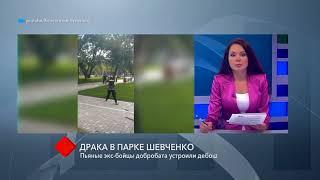 Драка в парке Шевченко: пьяные экс-бойцы добробата устроили дебош
