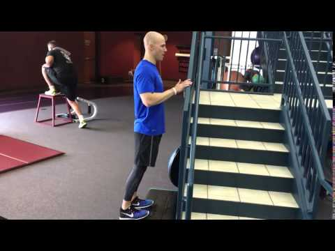 Toes Elevated Standing Calf Raise