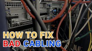 Home Lab Server Rack Cabinet - Cabling Clean Up #HomeLab #Tech #megku