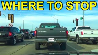 The Safe Distance To Stop Behind A Vehicle At A Traffic Light Or Other Line Of Stopped Cars