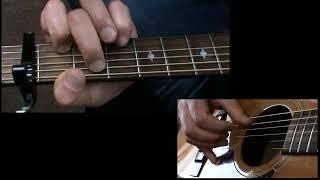 How to play Eva Cassidy's  Over The Rainbow - Guitar Tutorial