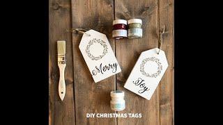 DIY {Christmas} Wooden Gift Tags