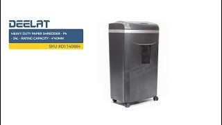 Heavy Duty Paper Shredder - P4 - 24L - Rating Capacity - 4*40mm     SKU #D1140684