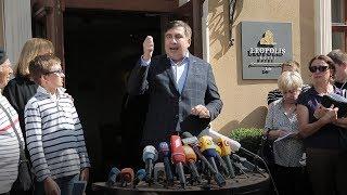В отель к Саакашвили пришла полиция