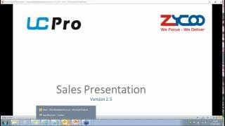 Zycoo UC Pro Training For Pre-sales & Sales Engineers