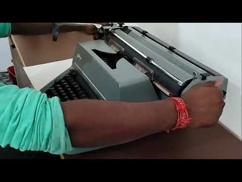 How to Use a Typewriter in tamil