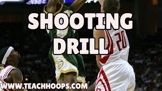 5 by 4 Basketball shooting drill