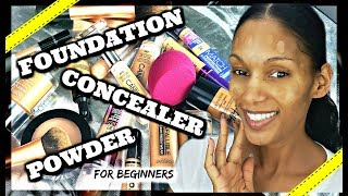 Apply Foundation, Concealer & Powder LIKE A BOSS!!!