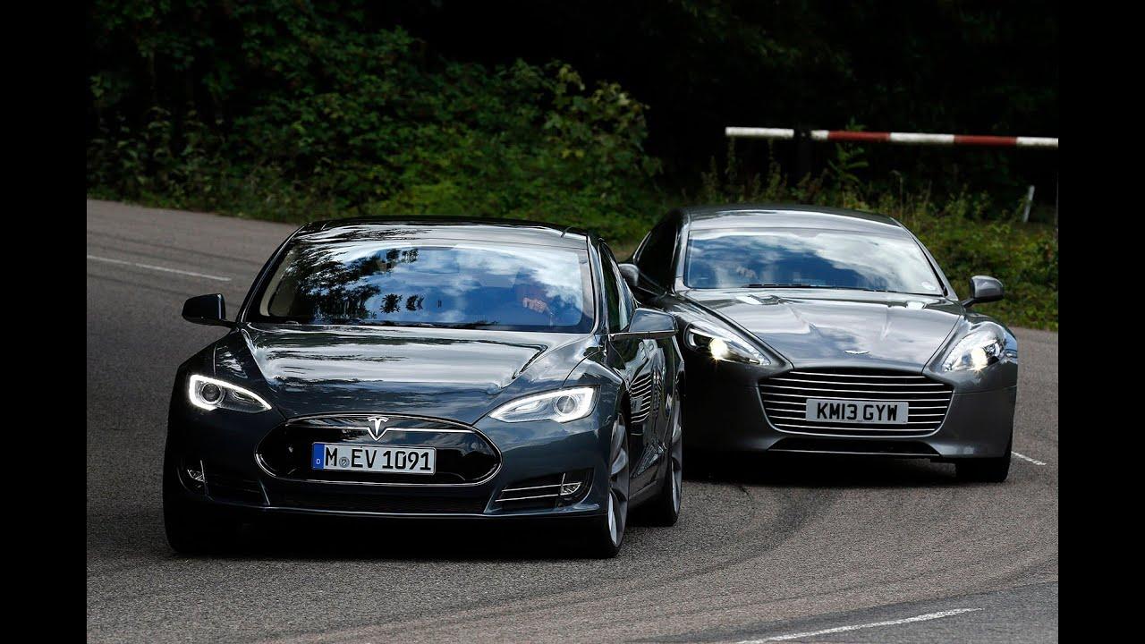 Watch The Tesla Model S Smoke The Aston Martin Rapide S