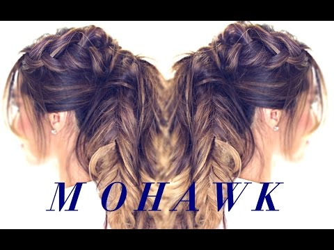 Mohawk Pony BRAID Hairstyle 👸| CUTE HAIRSTYLES for Medium Long Hair Tutorial