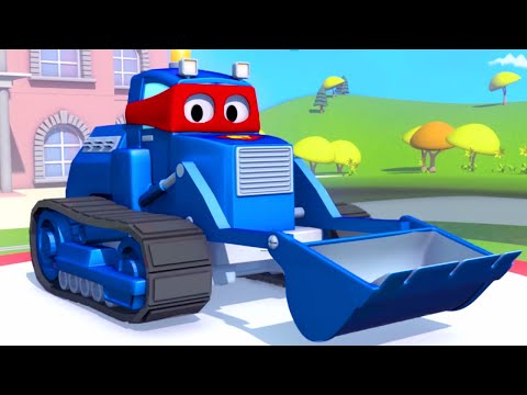 Carl The Super Truck And The Bulldozer In Car City | Trucks Cartoons For Kids 🚚