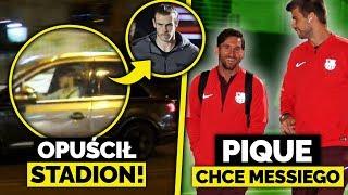 DZIWNE zachowanie BALE... Opuścił stadion w TRAKCIE MECZU! Pique zaprasza MESSIEGO do współpracy!