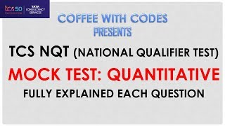 TCS Ninja Mock Test Quantitative Fully Solved with Detailed Explanation   Coffee With Codes Solved