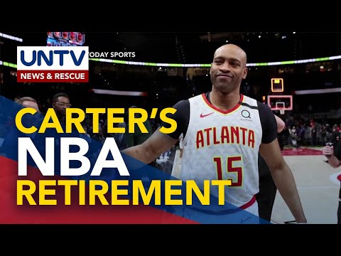 [UNTV]  NBA great and Olympic gold medalist Vince Carter retires after record 22-season career
