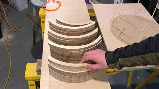 104 Plys Baltic Birch Snare Drum Shell Construction Part 1