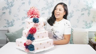 HOW TO MAKE A POM POM DIAPER CAKE